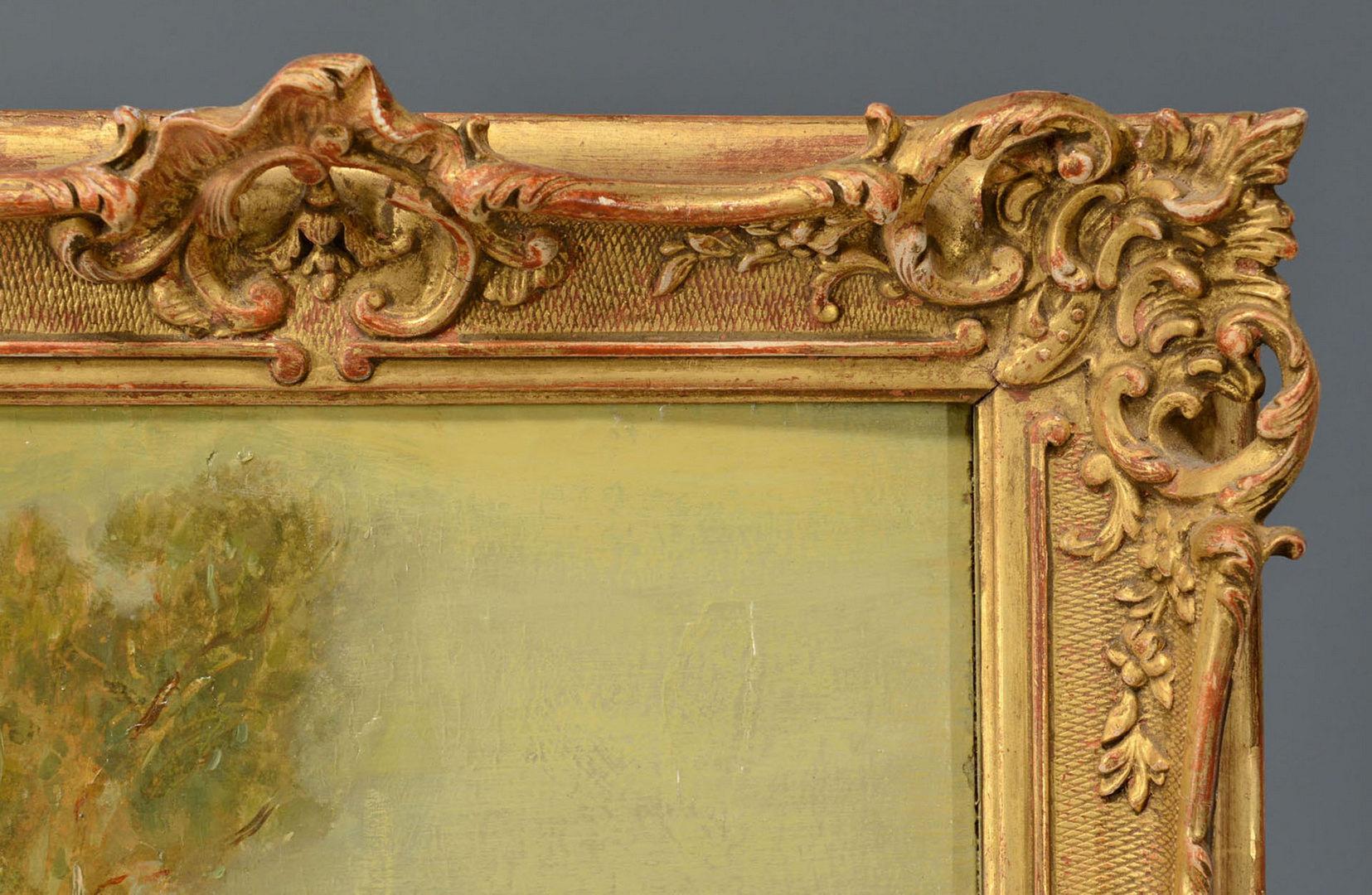 Lot 358: Pr. French Genre Paintings, attrib. Castaigne