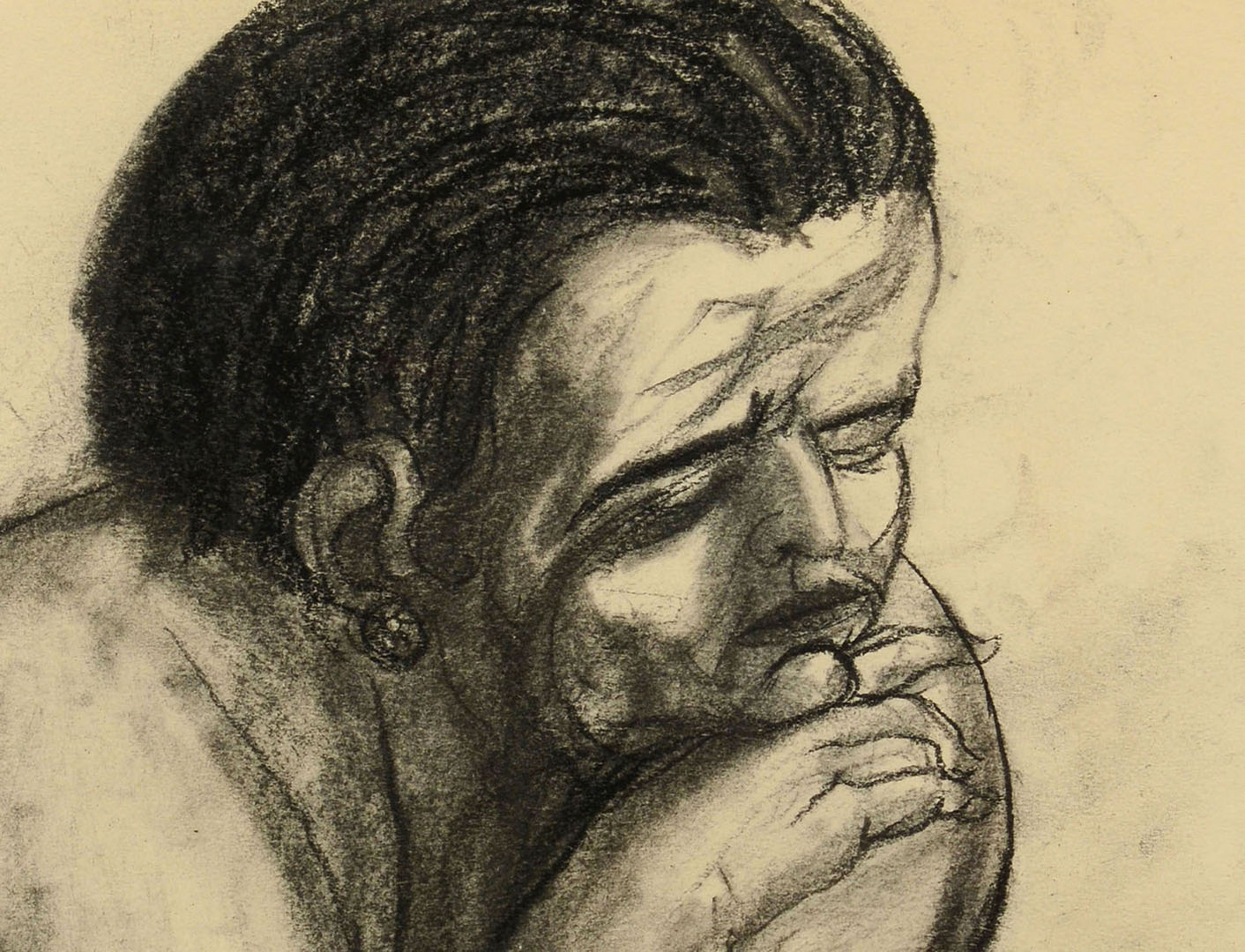 "Lot 359: James Kearns drawing, ""Woman"", 1960"