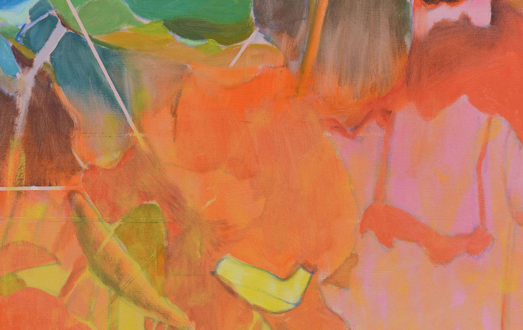 Lot 360: Mizue Sawano, abstract floral painting