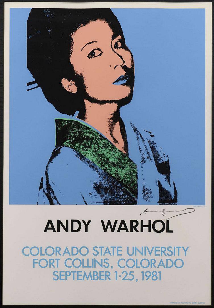 Lot 361: Andy Warhol signed screenprint, Kimiko Powers