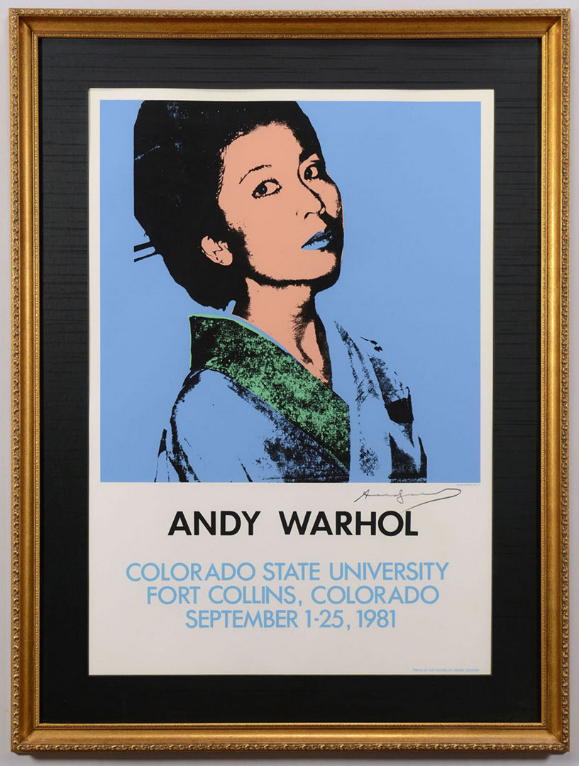 Lot 361: Andy Warhol signed screenprint, Kimiko Powers