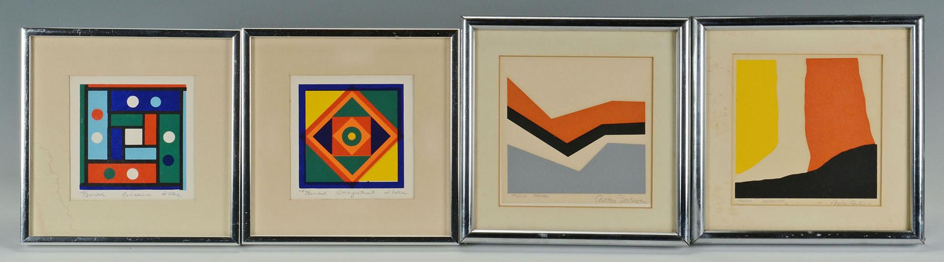 Lot 365: 2 Fotescu-Smyth Serigraphs, 2 Woodblock Prints