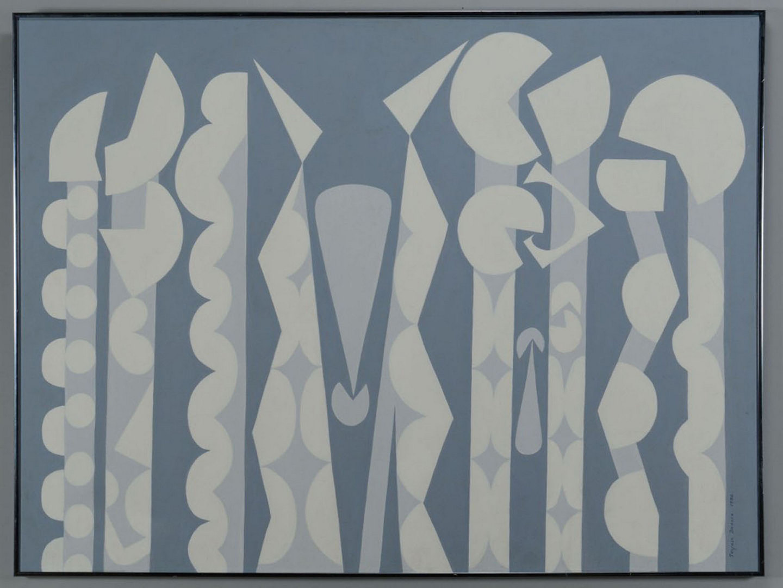 Lot 366: TelFair Brooke, abstract oil on canvas