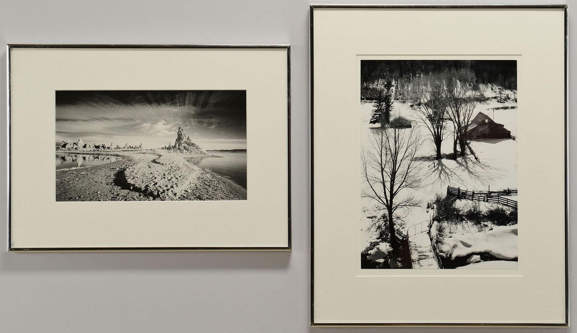 Lot 368: Two framed Silver Gelatin Prints, Dawson & Benjami