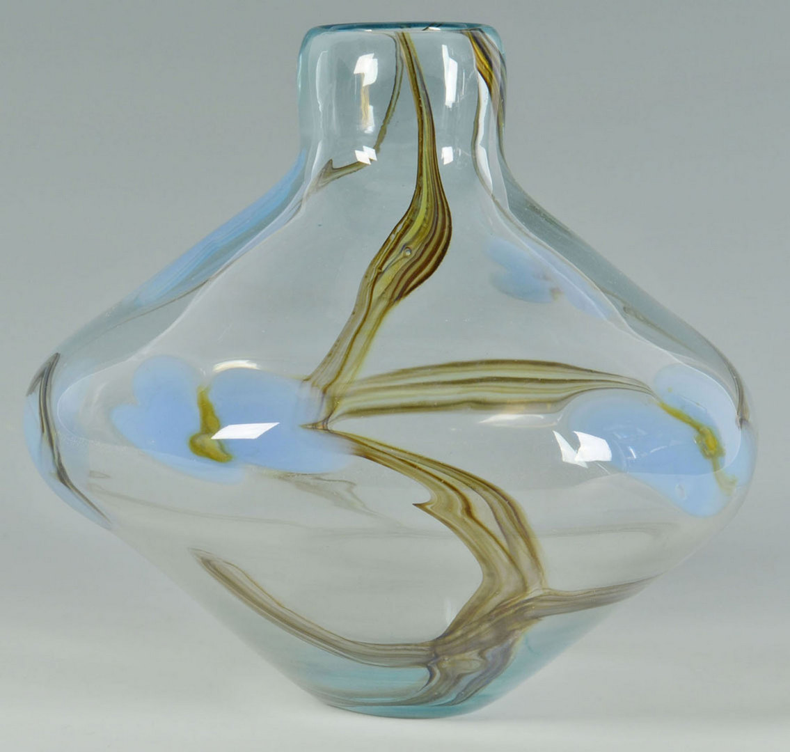 Lot 370: Large Richard Jolley Vase, Florals