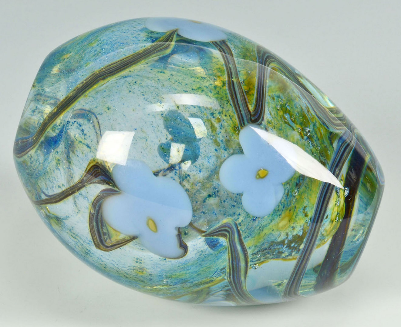 Lot 371: Small Richard Jolley Vase, Floral Blossoms