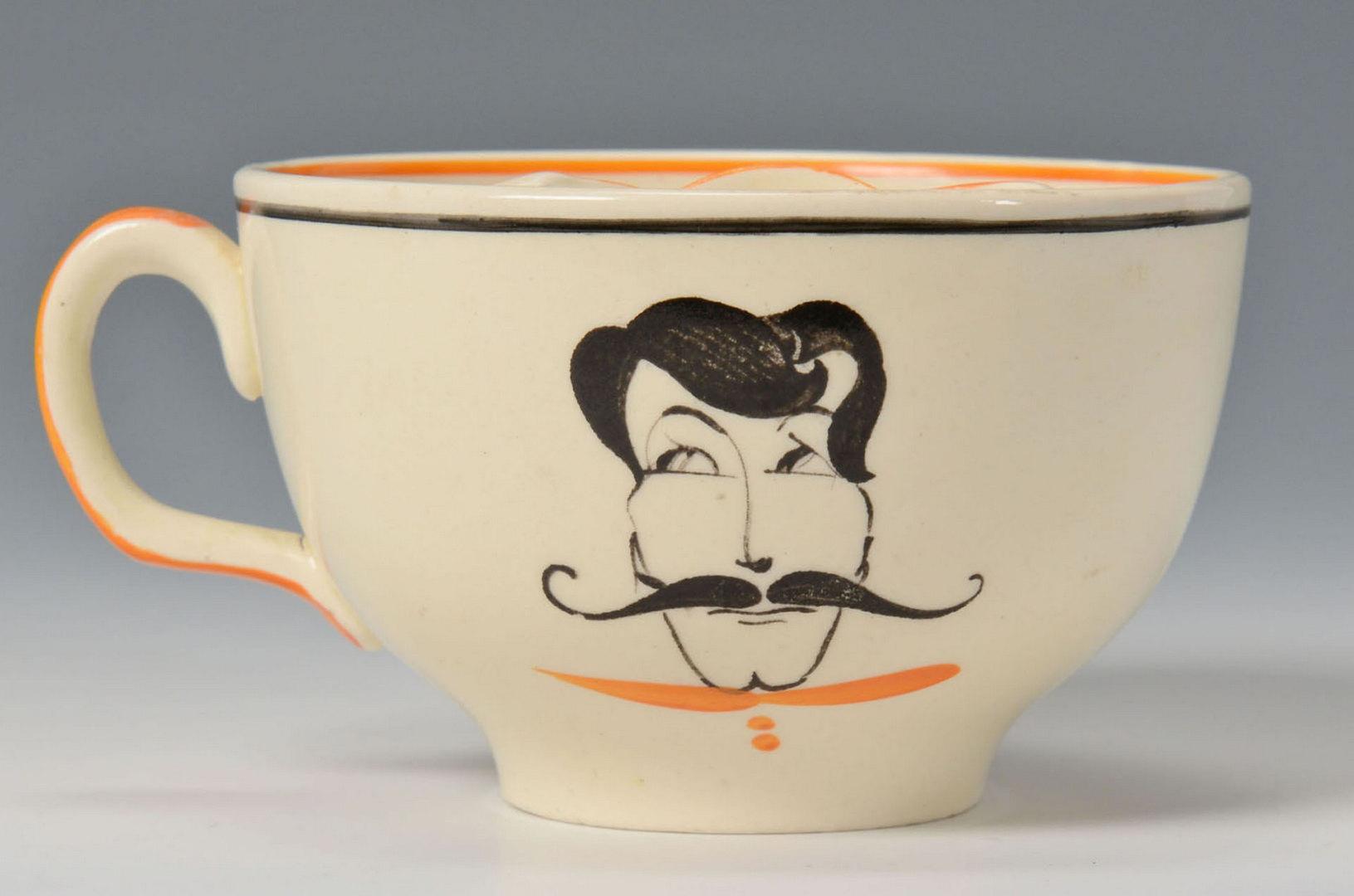 Lot 373: Susie Cooper Left Handled Moustache Cup