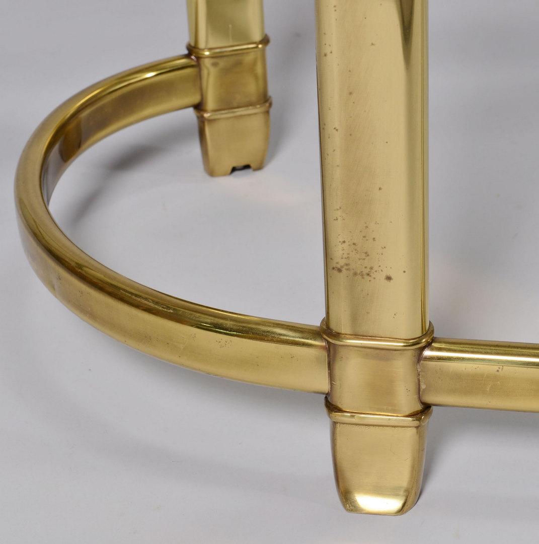 Lot 377: Mastercraft Kidney Shaped Brass Writing Table
