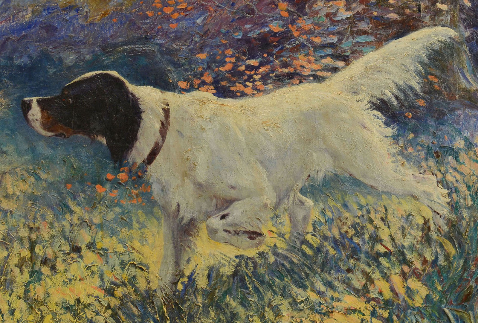 Lot 37: Frank Stick Hunting Dog oil on canvas