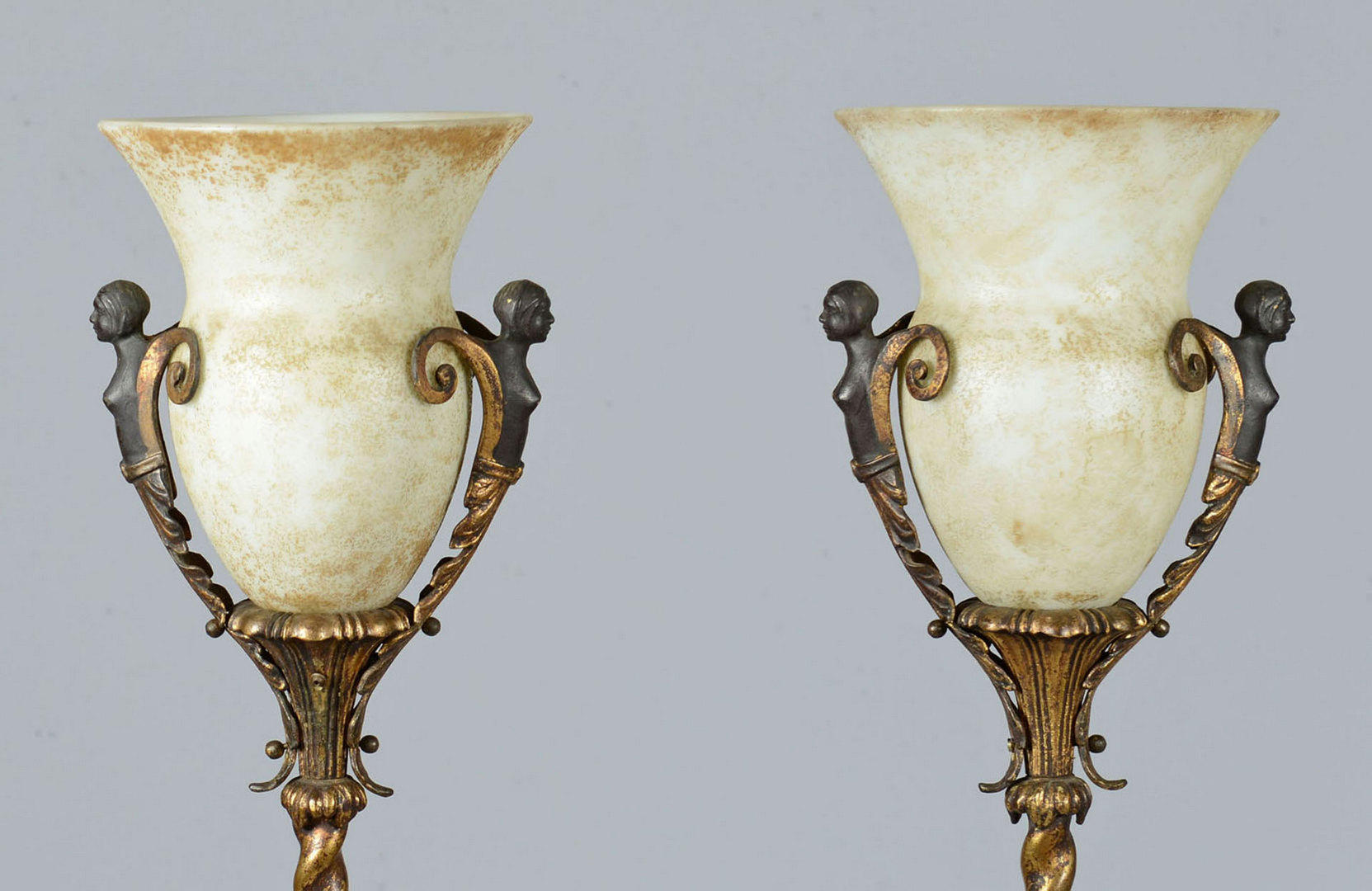 Lot 380: Pair of Torchieres in the Style of Oscar Bach