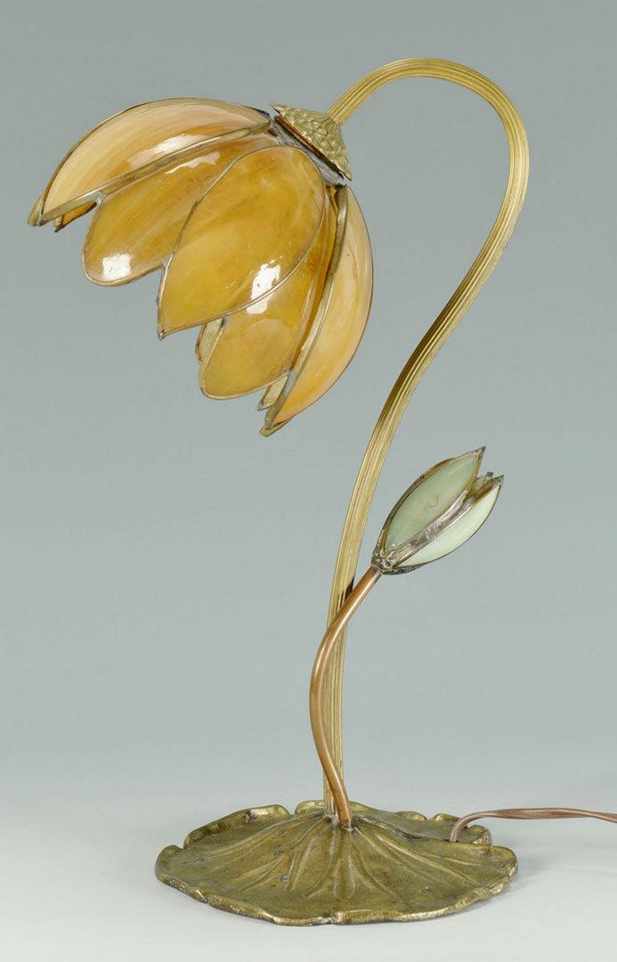 Lot 382: Art Nouveau Lily Pad Lamp