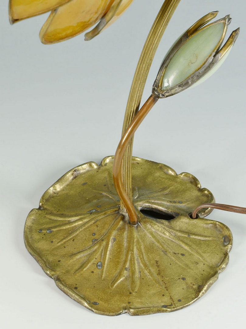 Lot 382: Art Nouveau Lily Pad Lamp