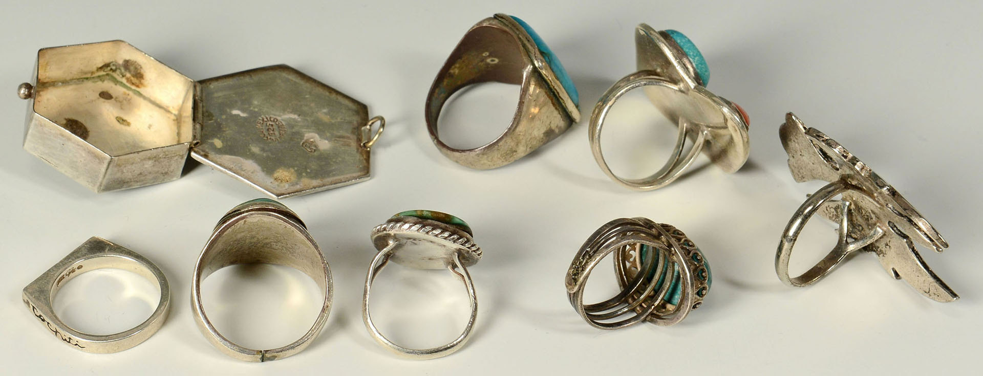 Lot 388: Mexican Designer Jewelry w/ SW American Jly