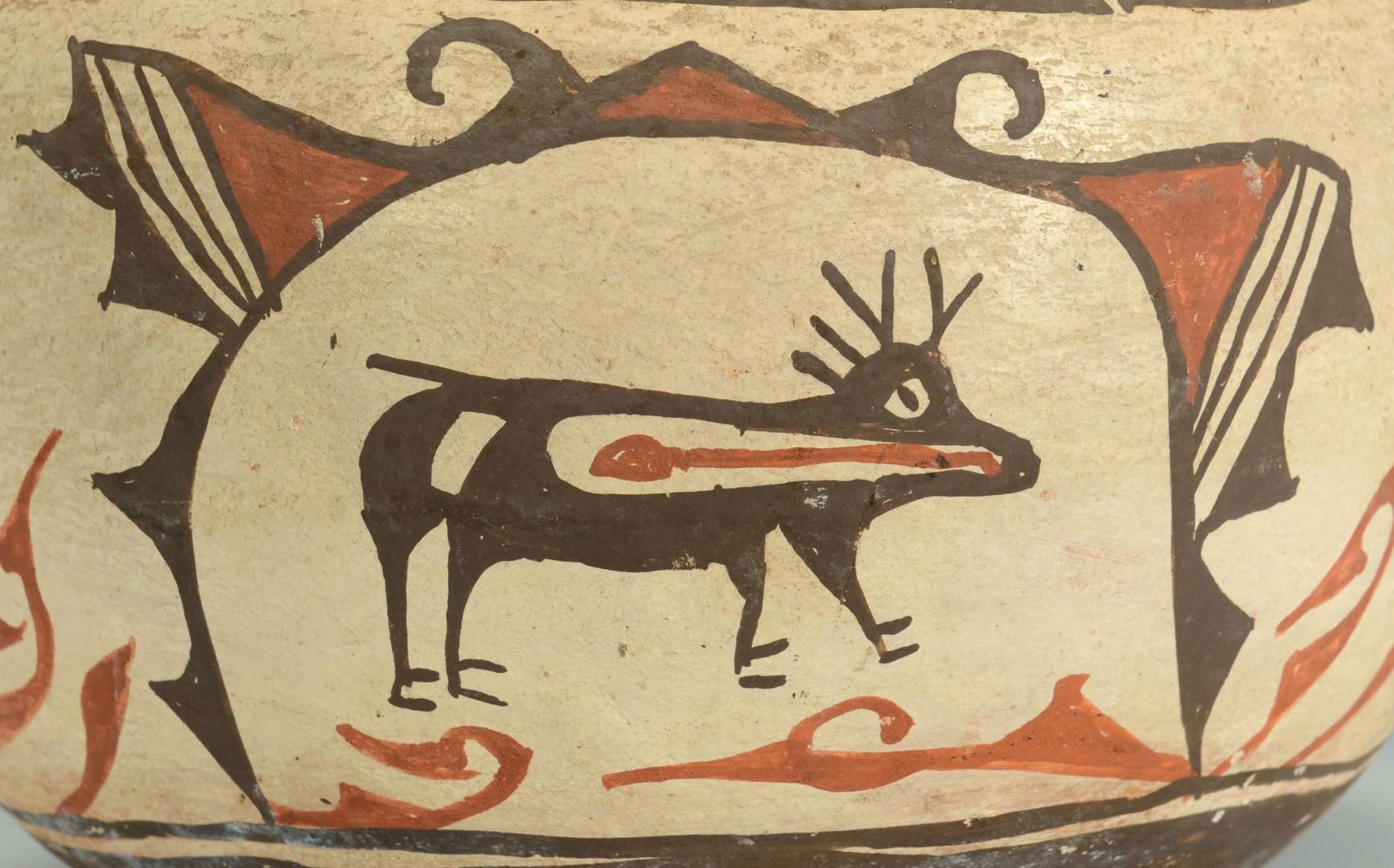 Lot 391: Zia Olla Jar w/ Heartline Deer Design