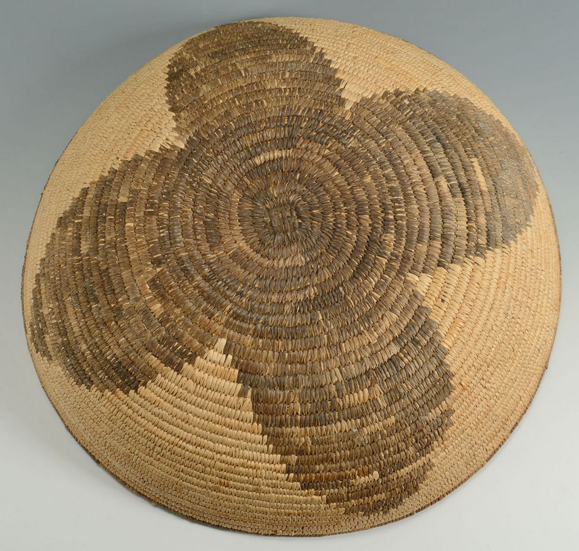 Lot 393: Native American Basket, poss. Apache or Pima