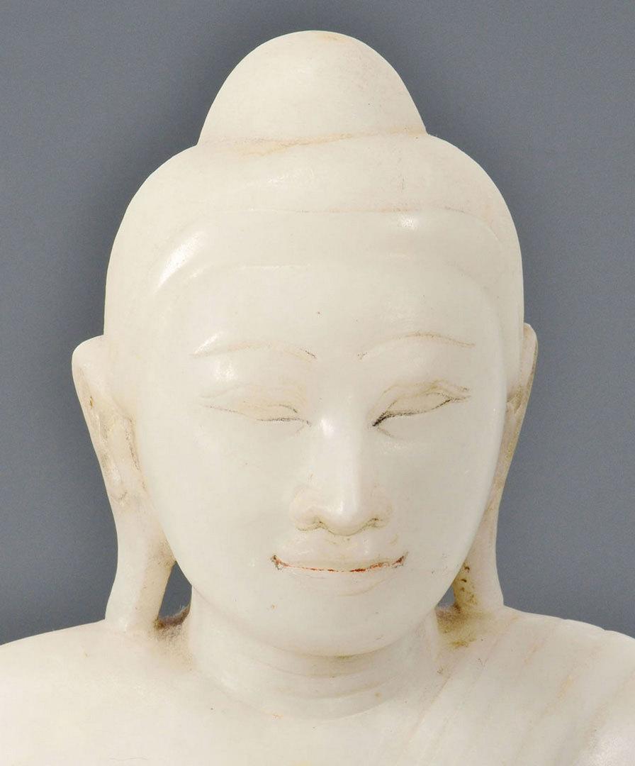 Lot 3: Large White hardstone Buddha Sculpture