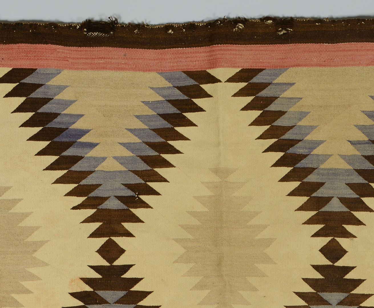 Lot 405: 2 Navajo rugs, Crystal and Eyedazzler