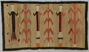 """Lot 406: Navajo Ye'ii Pictoral Rug, 59"""" x 36"""""""