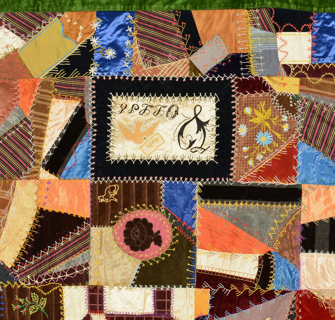 Lot 409: TN Crazy Quilt with House and Animals