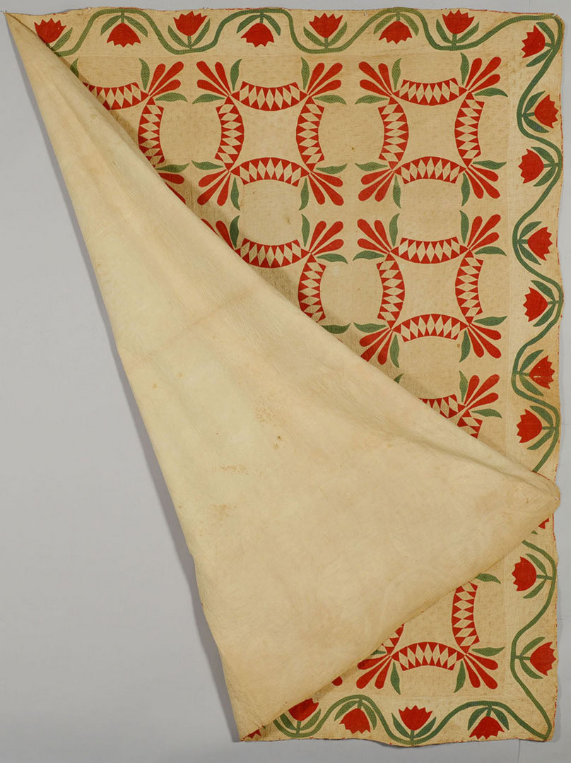 Lot 410: Quilt with Tulip Border Variant, TN or AL