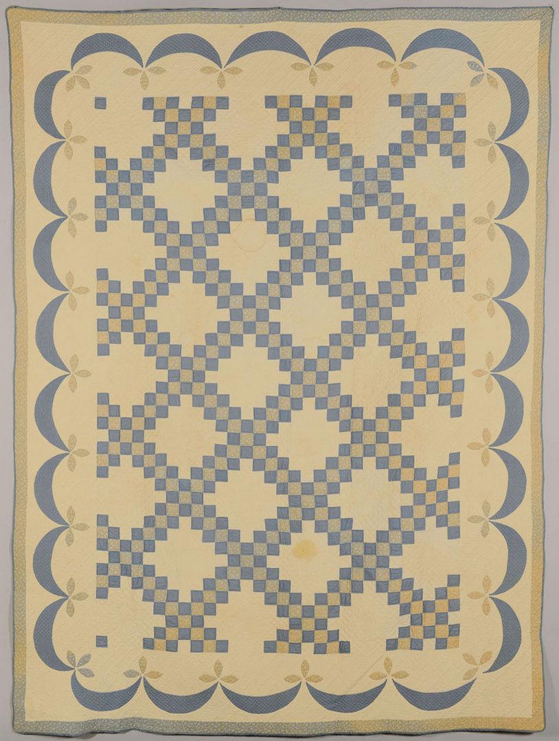 Lot 411: Pr. Double Irish Chain Quilts, NC museum deacess.
