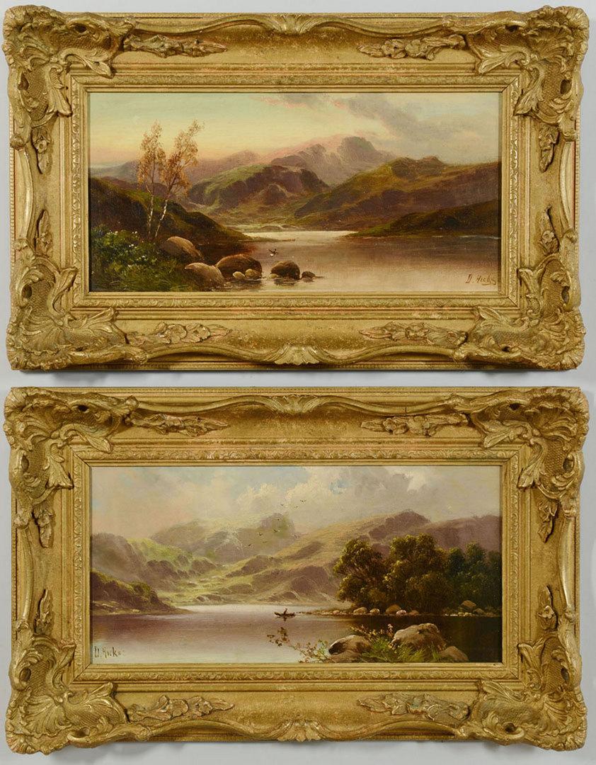 Lot 41: David Hicks, Pair of English oil landscapes