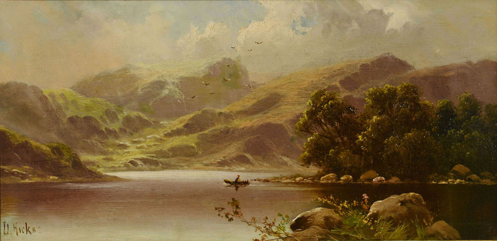Lot 41: David Hicks, Pair of English oil landscapes