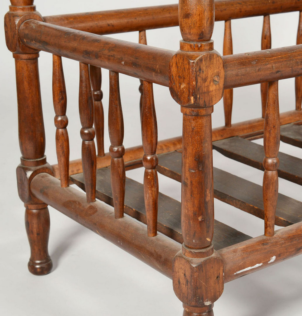 Lot 422: Crib, TN Child's Chair and KY Cherry Sidechair