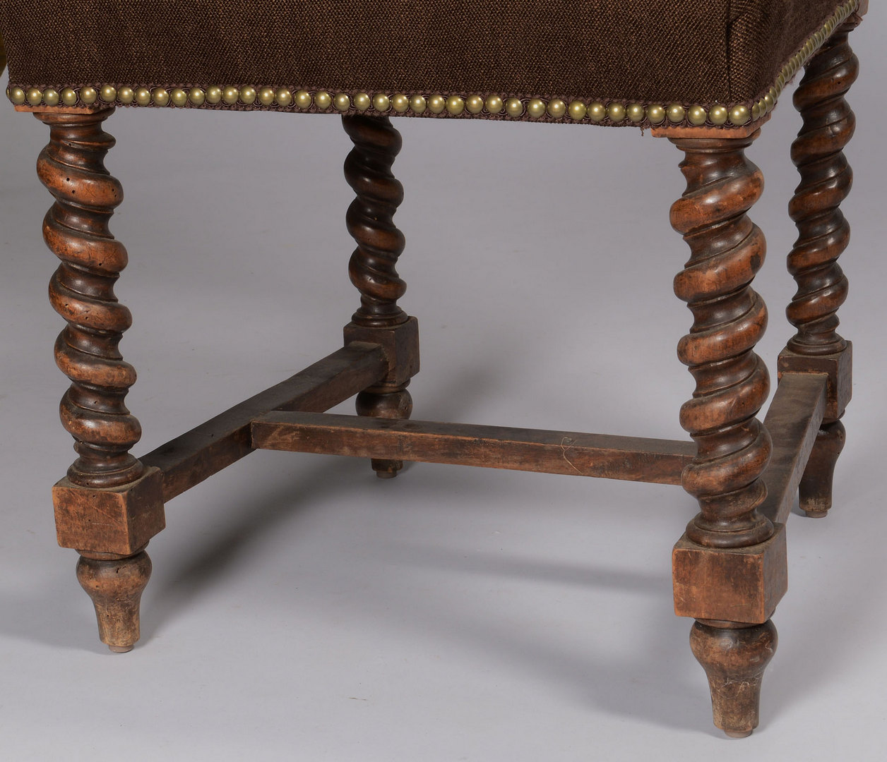 Lot 425: Set of 6 Baroque Style Oak Side Chairs