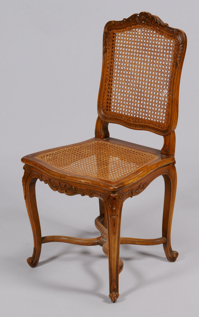 Lot 427: Set of Six French Country Side Chairs