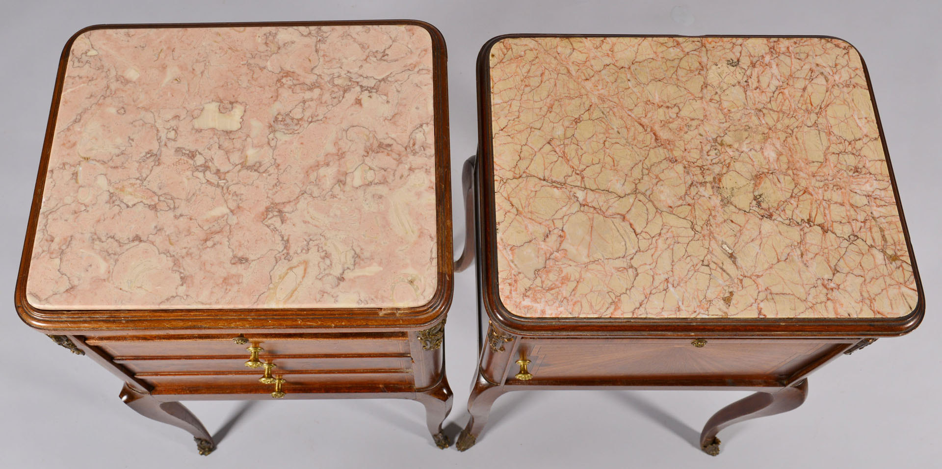 Lot 428: Two French Marble Top Commode Stands