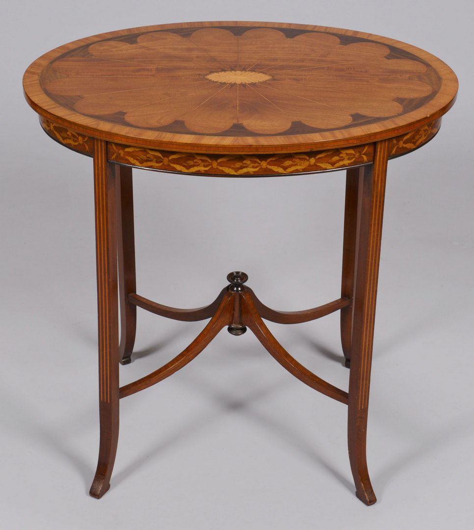 Lot 429: Continental Inlaid Oval Table