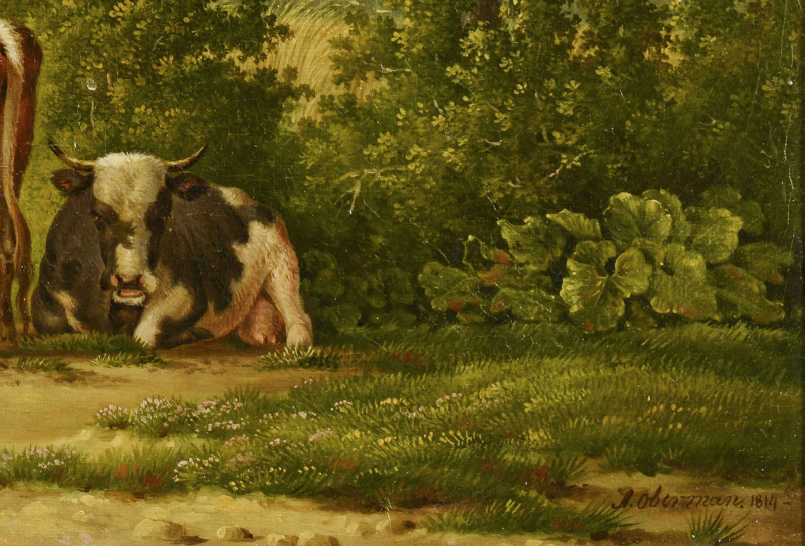 Lot 42: Anthony Oberman Pastoral Landscape with Farmstead