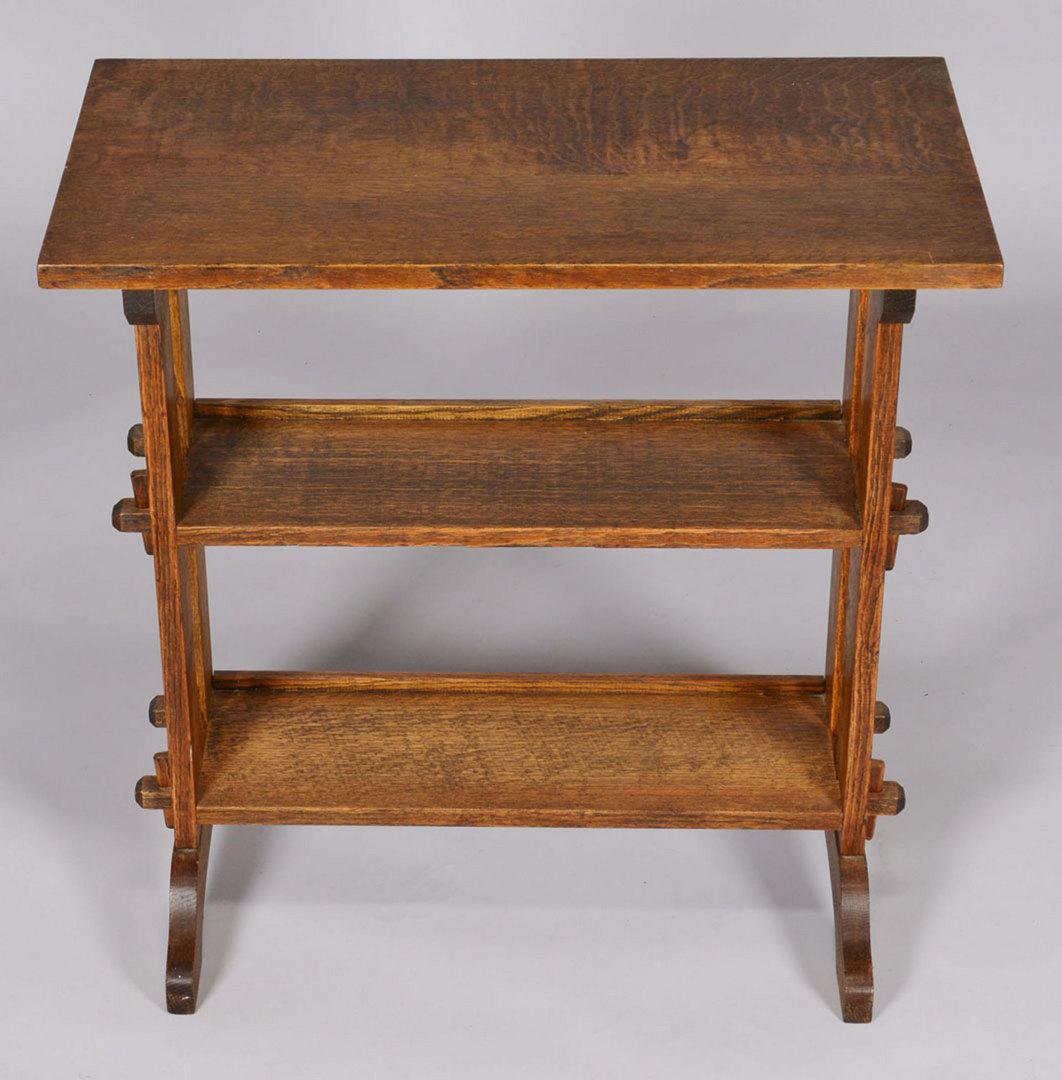 Lot 431: Roycroft Arts & Crafts Oak Bookstand