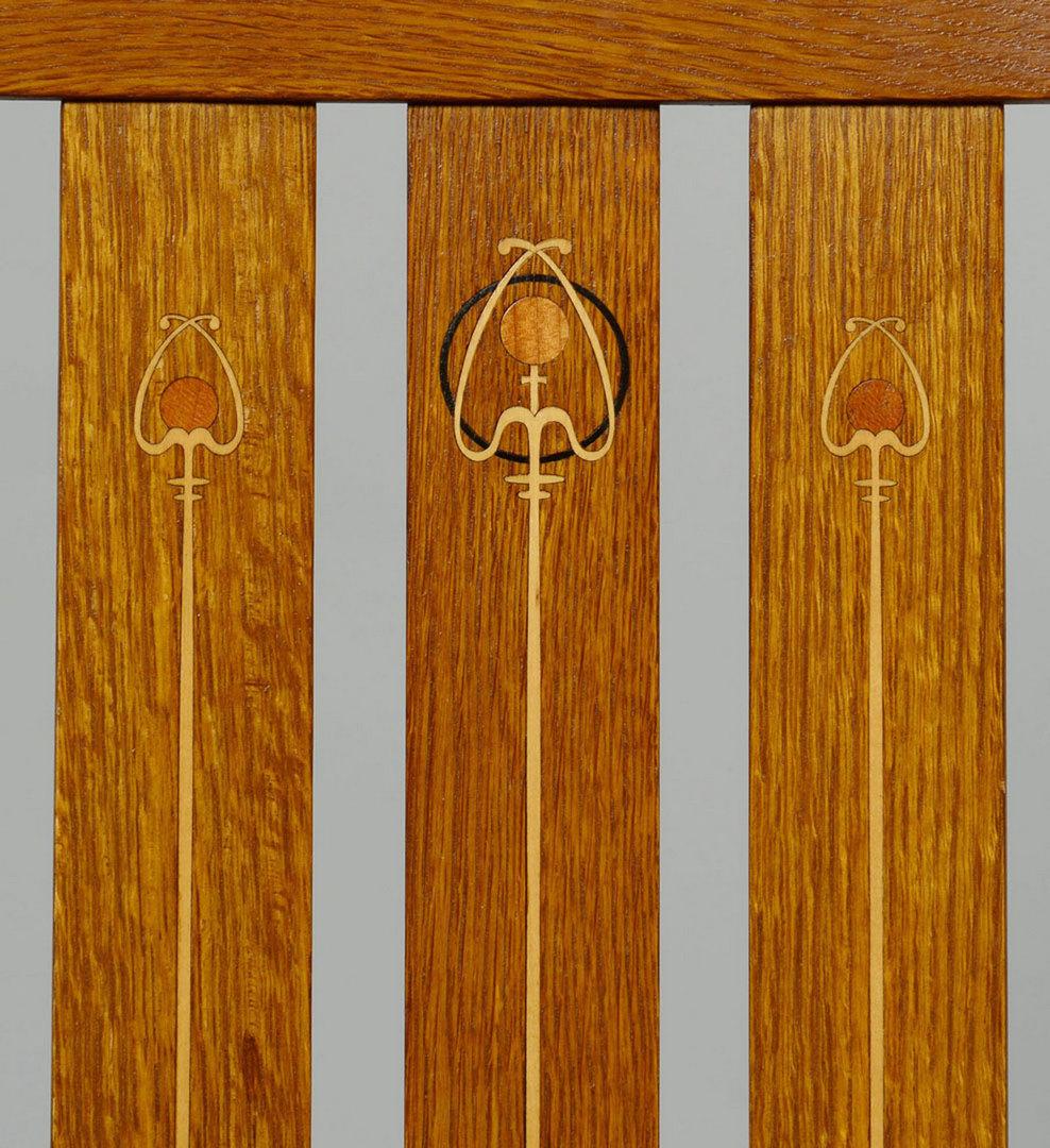 Lot 434 Five 5 Harvey Ellis Stickley Side Chairs Contem