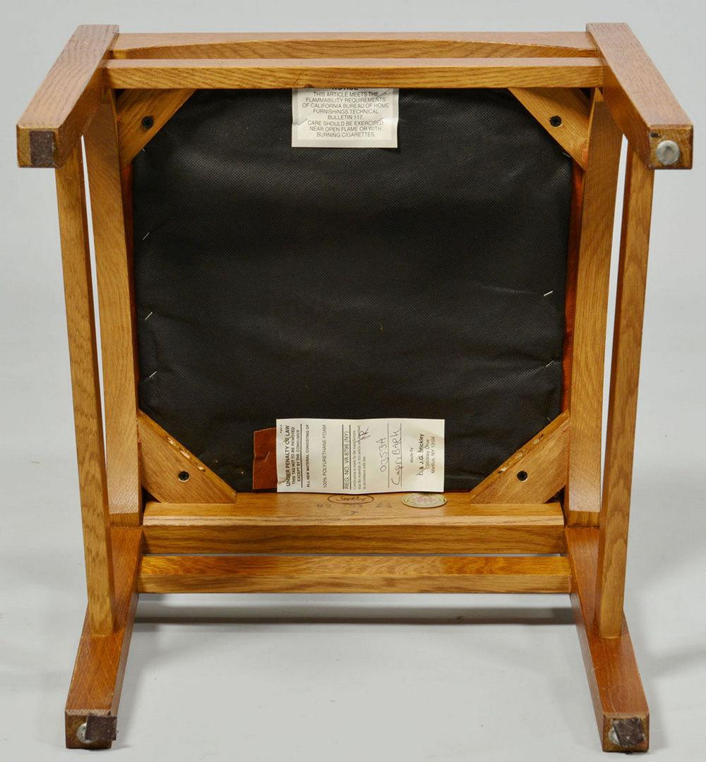 Lot 434: Five (5) Harvey Ellis Stickley Side Chairs, Contem