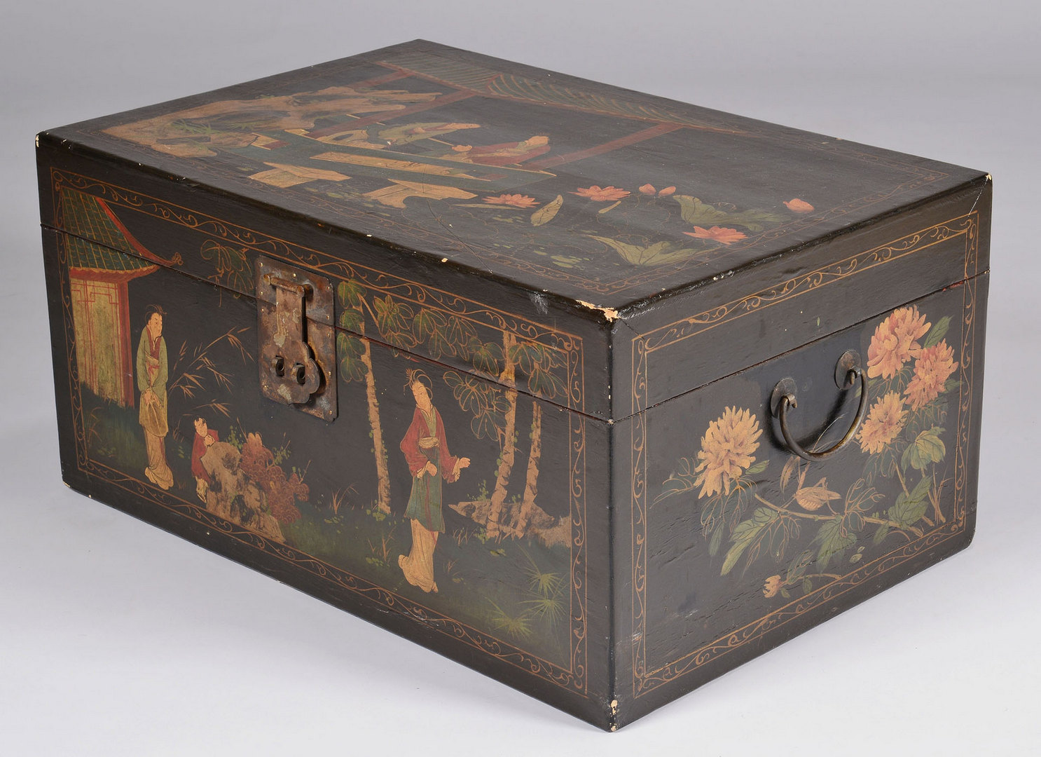 Lot 435: Asian Lacquer Trunk