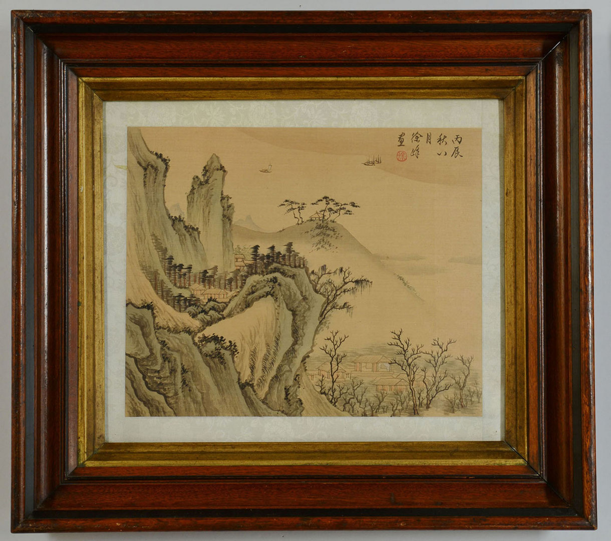 Lot 443: 2 Chinese Watercolor Landscape Paintings