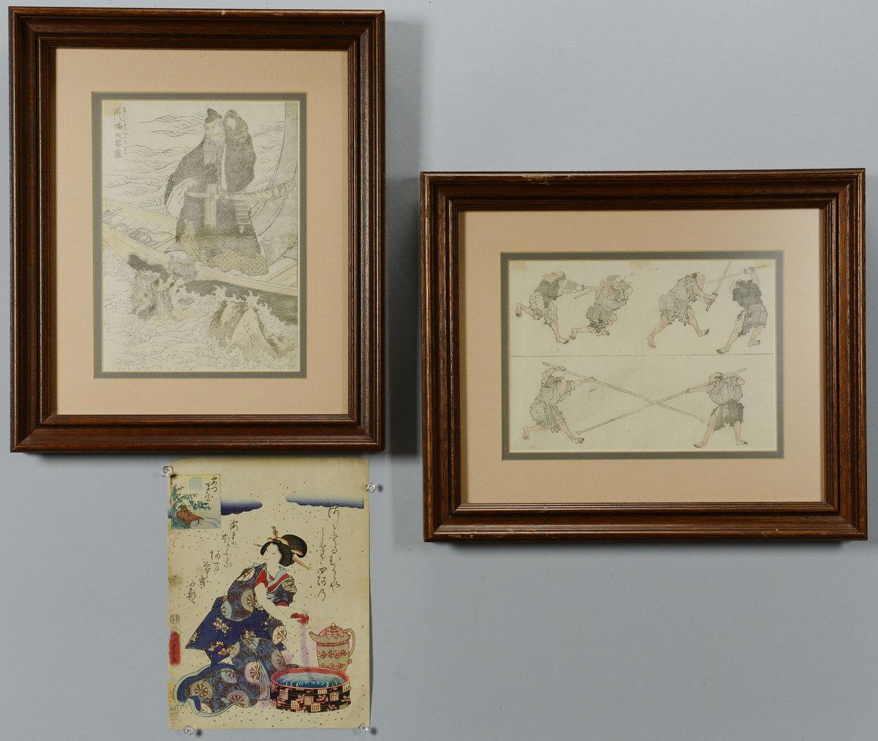Lot 446: 3 Japanese Woodblock Prints