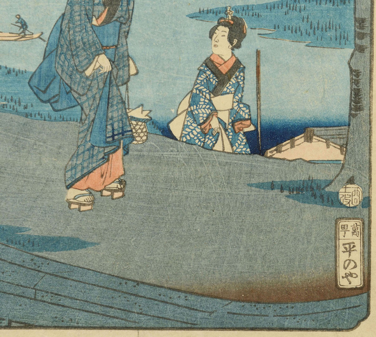 Lot 447: 2 Prints, incl. Japanese Woodblock