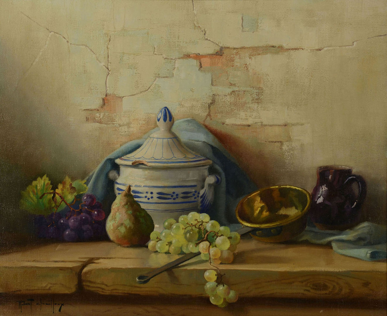Lot 44: Robert Chailloux o/c, Still Life with tureen