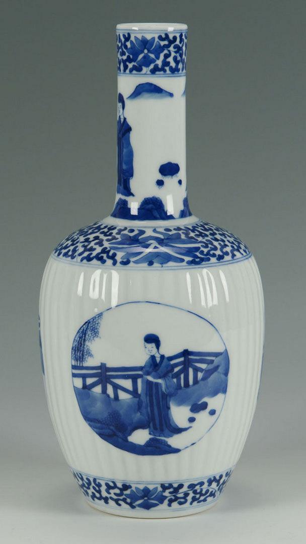 Lot 452: Chinese Blue & White Porcelain Bottle Vase