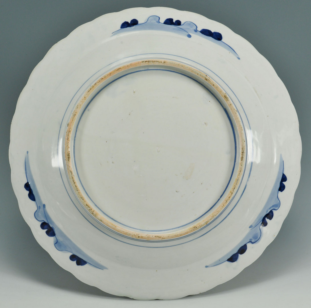 Lot 459: 2 Japanese Arita chargers and Imari Style Plate