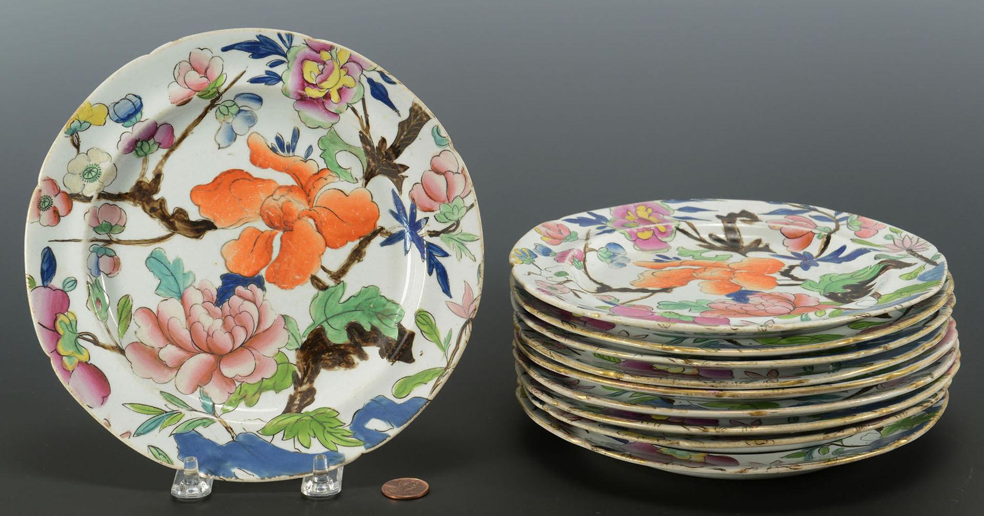 Lot 461: Ten Mason's Imari Ironstone plates, 19th c.