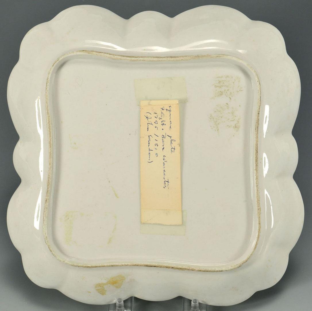 Lot 463: Square Worcester Dish, Barr Flight Barr