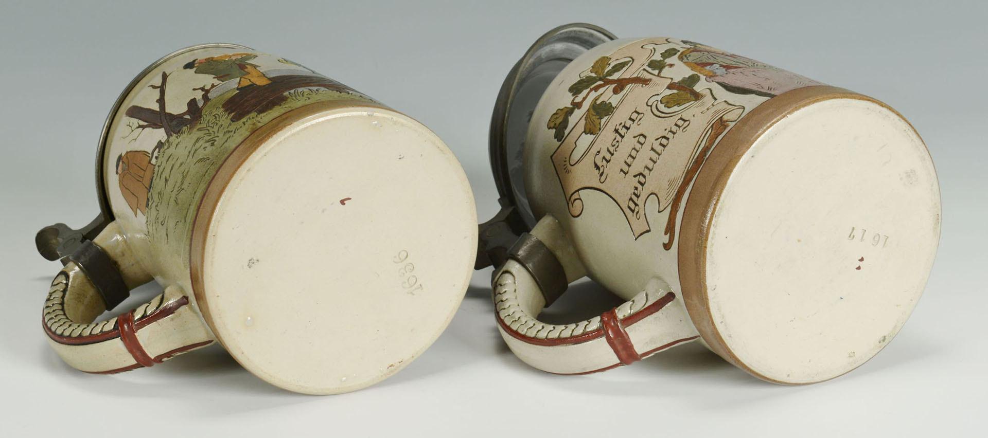 Lot 470: 2 Incised German Steins, 1 Washington D.C.