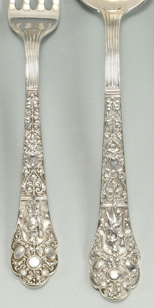 Lot 476: 4 Pieces of Gorham Flatware, Medici Pattern