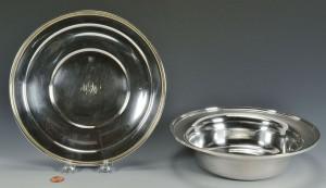 Lot 484: Kirk Sterling Veg. Dish & Sandwich Plate