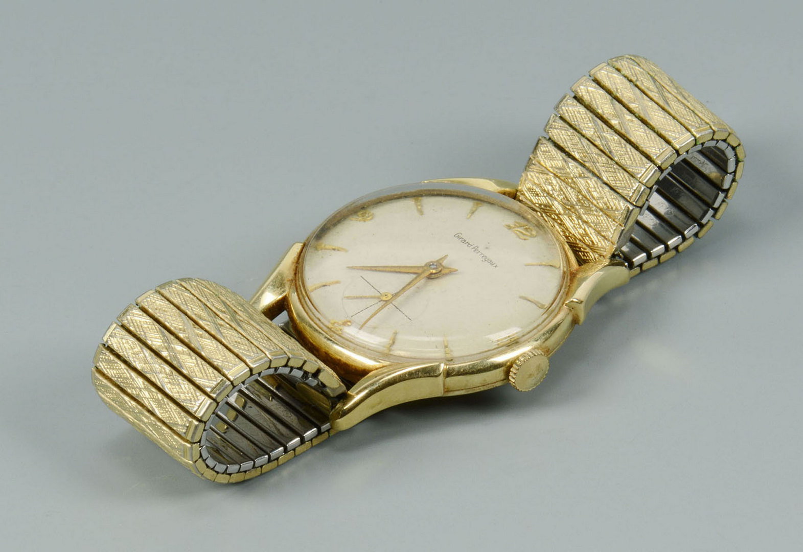 Lot 500: 14k man's Girard Perregaux wristwatch