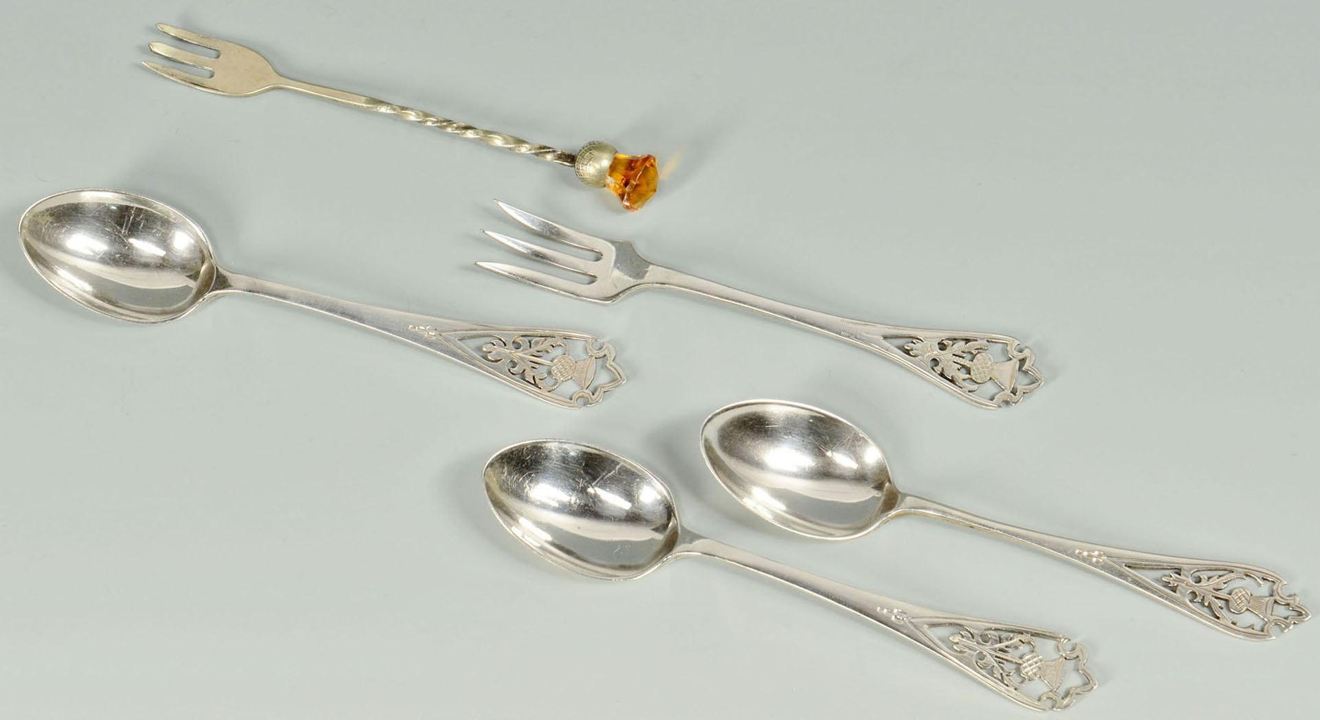Lot 503: Scottish style Jewelry and Silverware